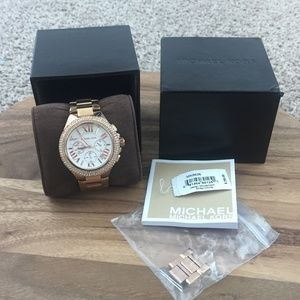 LIKE NEW TAGS Michael Kors Camille Rose Gold Watch
